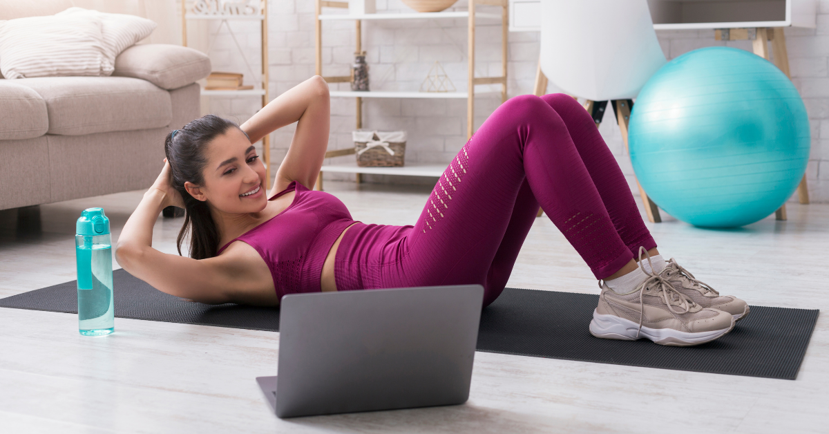 online workout with friends