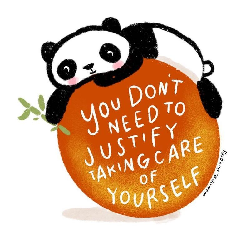 quote with panda drawing