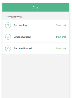 Helpling App chat